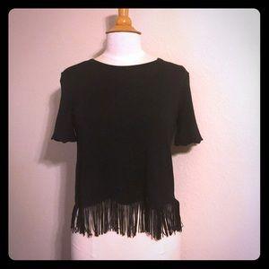 Black top with fringe